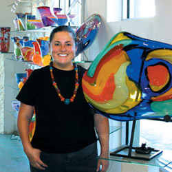 Splendor in the Glass:  Designer/glassblower Gini Garcia