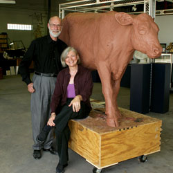 Brick and Bronze:  Donna Dobberfuhl's sculptures