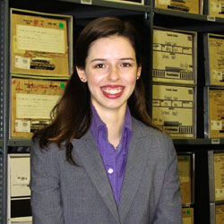 Keeping Track of the Past:  As city's first archivist, Amanda DeFlorio