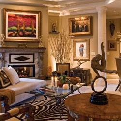 Fine Art & Passionate Living : Couple enjoy their home in the dominion