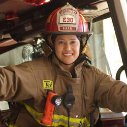 Up the Ladder to Success:  Lt. Valerie Frausto