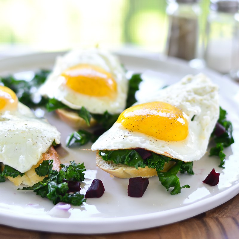 Recipes: Farm Egg, Beet and Kale Toaster