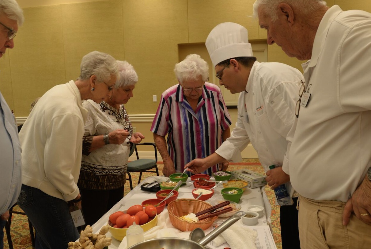 Celebrity Chef Spices Up an Afternoon at Morningside Ministries at Menger Springs