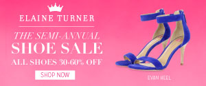Elaine Turner Shoe Sale