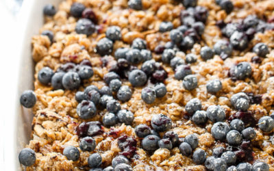 Overnight Blueberry Cream Cheese French Toast Bake
