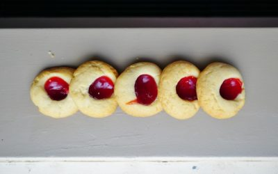 Patriotic, Healthy Almond Print Cookies