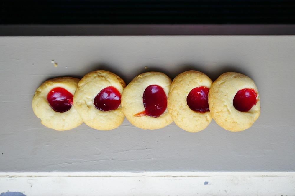 Patriotic, Healthy Almond Print Cookies