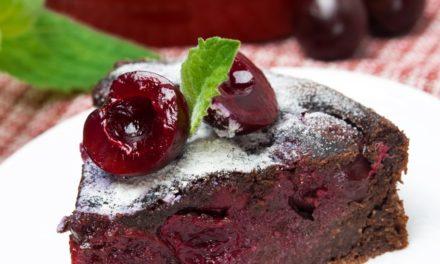 Dark Chocolate Cherry Clafouti