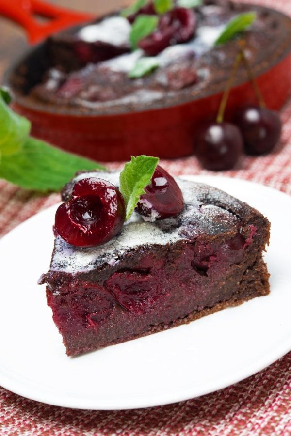 Dark Chocolate Cherry Clafouti