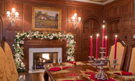 Adding Holiday Sparkle To A Grand Estate