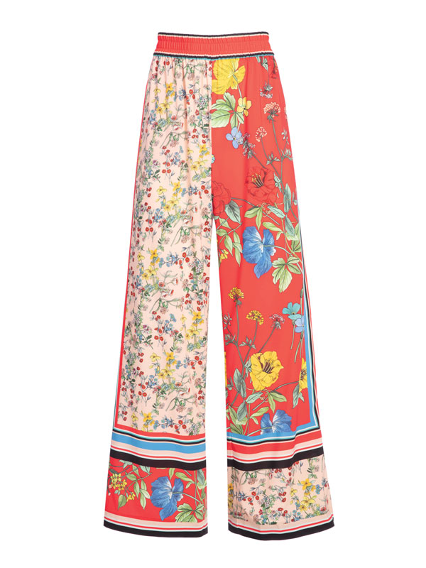 Alice and Olivia Multi Print Pant Julian Gold