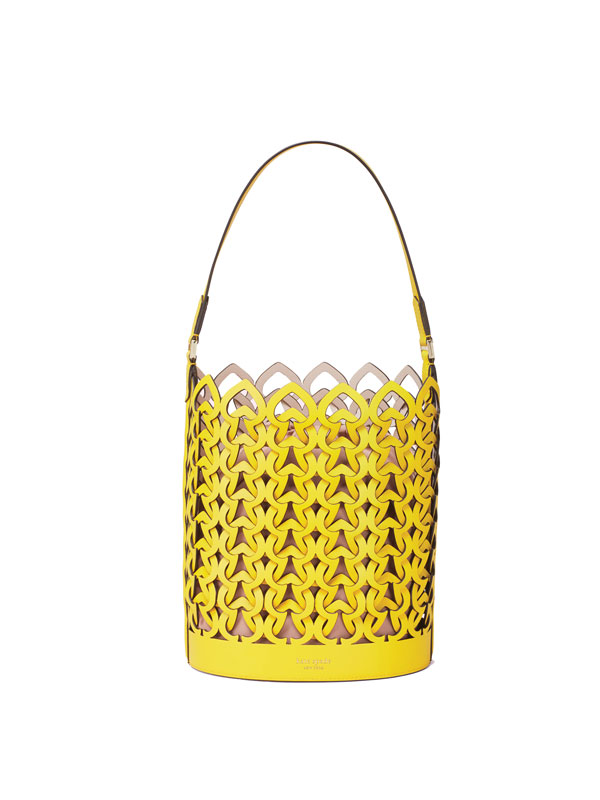 Kate Spade yellow bucket bag Julian Gold