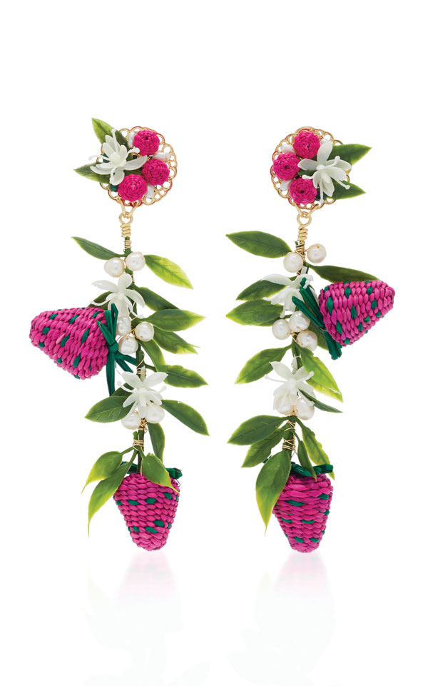Mercedes Salazar Strawberry Earring Julian Gold