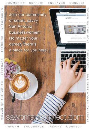 San Antonio woman connect banner ad