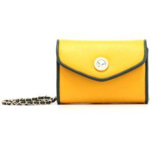 eva small solid clutch w detachable cross body strap forest green yellow gold 9421c451 ea9f 45ee 9755 c03628b71f21