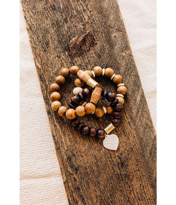 heart wood bracelet TenThousandVil