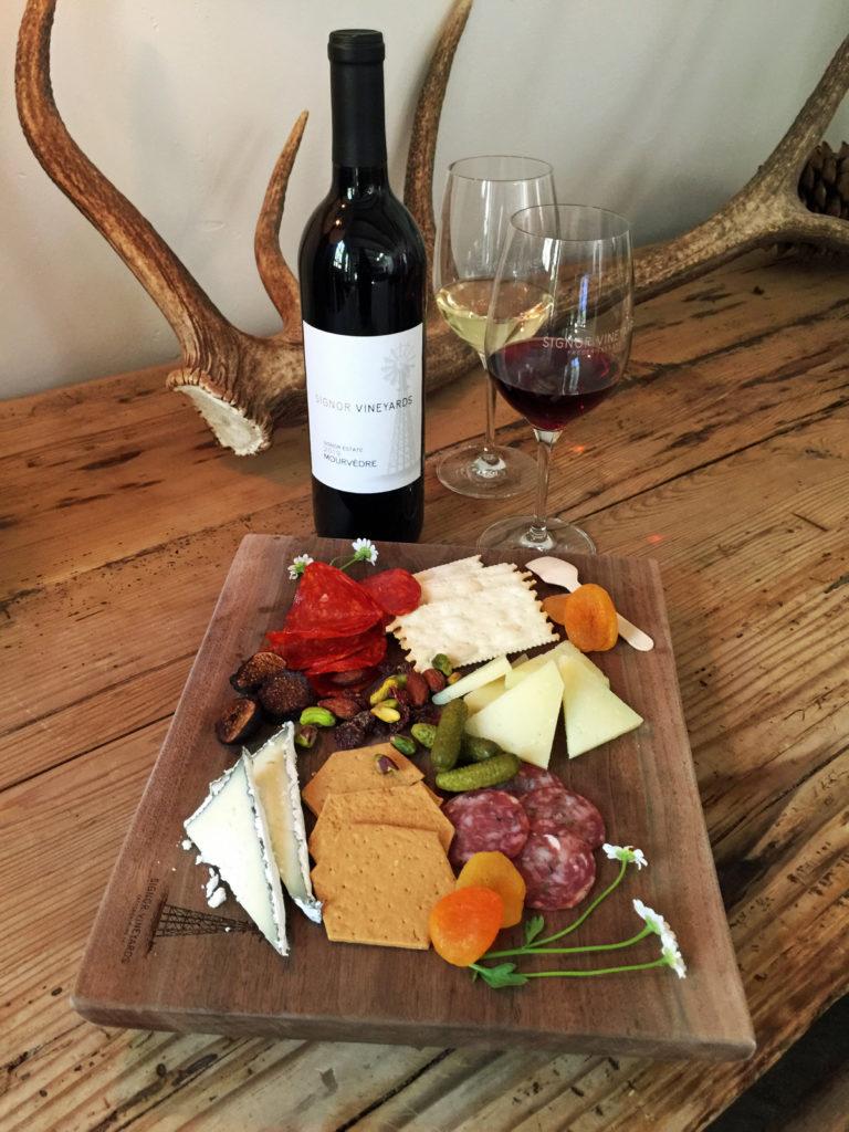 2 Signor Vineyards Charcuterie Board Wine 2
